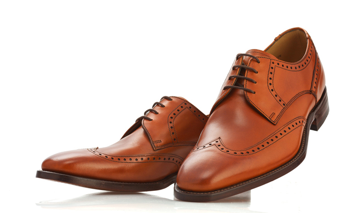 Loake tan brogue shoes - Leather goods packshots